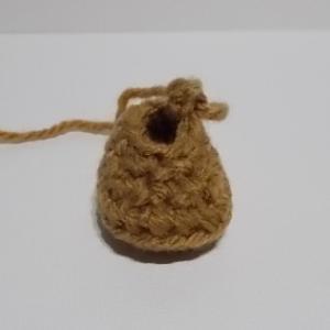 あみぐるみ 五月人形 足の試し編み