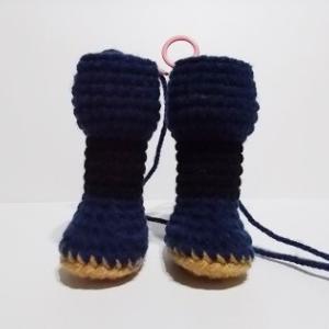 あみぐるみ 五月人形 足の制作