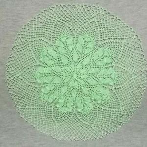 手縫い糸で編むドイリー 完成