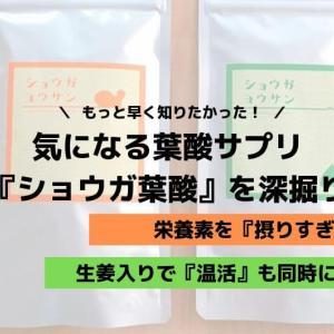 ショウガ葉酸は他の葉酸サプリとどう違う?実際に飲んでみた!