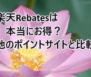 楽天Rebatesはポイントサイトより本当にお得なんだろうか? 答えはNoでした。