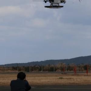 上五島-小値賀を無人ヘリが往復 離島物流の可能性探る