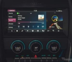 ジャガー Fタイプ 改良新型、音楽アプリ「Spotify」車載化…スマホ接続を不要に