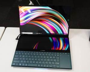 "ASUS、同社初の4K有機EL採用&セカンドディスプレイ搭載ノートPC""ZenBook Duo Pro"""