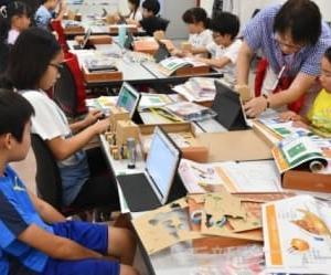 タブレットでロボット操作 健大、小学生プログラミング教室 高崎