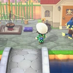 【あつ森データが消えたので再スタート編その17】ロボさんとトミさんのお庭作り♪温泉場もリニューアルオープンしてみます!