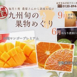 【送料0円九州旬の果物定期便】九州旬の果物めぐり〜天然のミネラルウォーターから作る果物の定期便★豆知識もお届けします♪