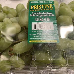 コストコのグリーンシードレスグレープは種なし皮ごと食べられて美味しい