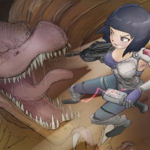 スピノサウルスとF2000 – Spinosaurus & F2000 –