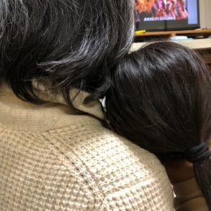 映画「CATS」公開前に  DVDで予習の娘と主人。