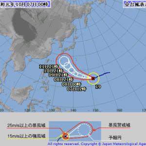 【天気コラム】台風19号の現時点の予測をまとめてみた(2019/10/7)