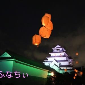 福島県会津若松の会津絵ろうそくまつり 鶴ヶ城レポ✨