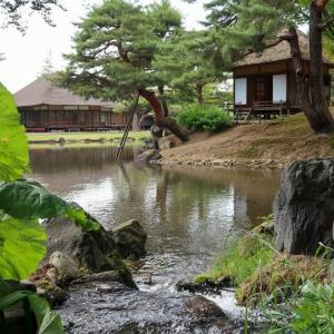 福島県会津若松 観光名所の名勝・御薬園(おやくえん)で新緑さんぽ