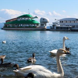 猪苗代湖長浜のシンボル的観光船 はくちょう丸&かめ丸お疲れ様でした。また会いたい..!