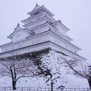 日本画のような雪景色が撮れるお城、会津若松鶴ヶ城..!