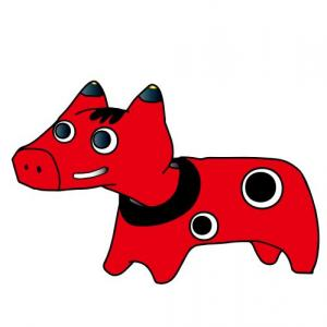 【ガチャレビュー】会津の民芸品 赤べこをモチーフにした「神獣べこたち」ガチャがすごい。