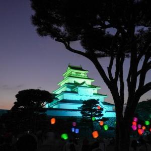 夜の鶴ヶ城本丸広場でCHILL。スカイバルーン打ち上げイベントに行ってきた..!