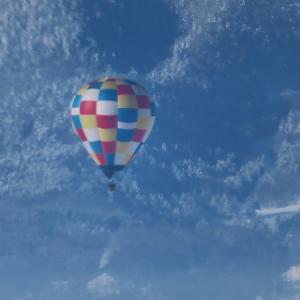 富良野で見た川霧と熱気球