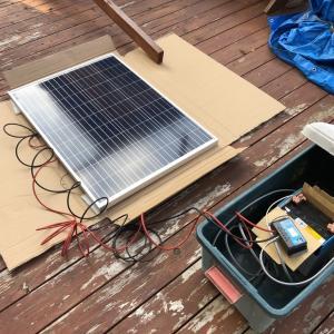 太陽光発電 100w