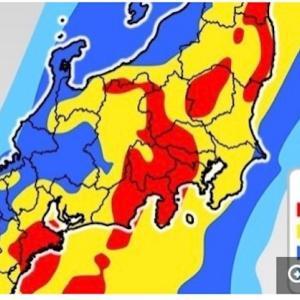 大型で非常に強い台風19号 直径650kmの巨大な暴風域を伴い接近中