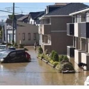 台風19号、11県の33人死亡 19人不明、21河川で堤防決壊