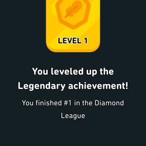 DuolingoでLegendary Achievementを達成したゼイ!