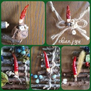 自然素材で手作りクリスマスリース