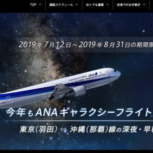 ANAのギャラクシーフライト2019に乗ってきました。 那覇→東京羽田