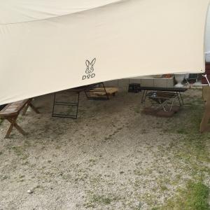 テントとタープの連結に困ったらこれだ!ワンポールテントにDODトンガリハット!