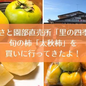 JAやさと園部直売所「里の四季」に旬の柿「太秋柿」を買いに行ってきたよ!