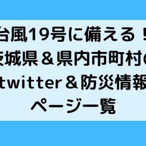 台風19号に備える!茨城県&県内市町村のtwitter&防災情報ページ一覧