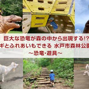 森の中に巨大な恐竜がいる公園ではヤギがいました! 水戸市森林公園【前編】