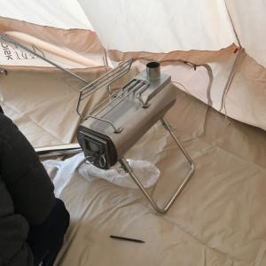 【キャンプ】薪ストーブ用の穴の開け方