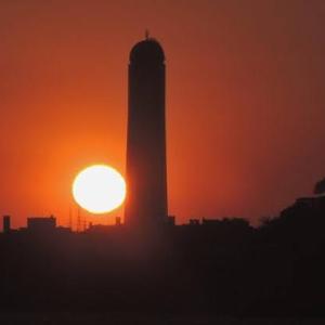 今日の関門海峡の夕陽
