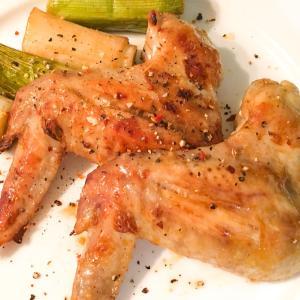 オーブンで鶏手羽のバラバラねぎま