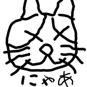ぶち猫 食いしん坊
