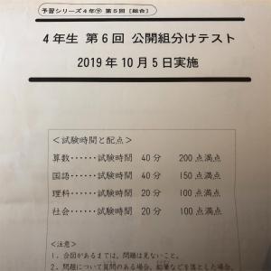 【結果】四谷大塚 公開組分けテスト4年 第6回
