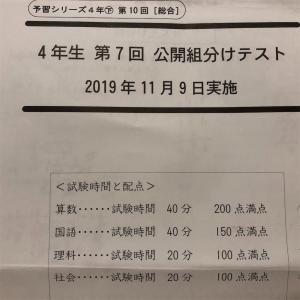 四谷大塚 公開組分けテスト4年 第7回