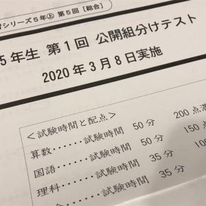 【四谷大塚】公開組分けテスト5年第2回!自宅受験と結果
