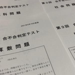 合不合判定テスト6年第3回の結果【四谷大塚】