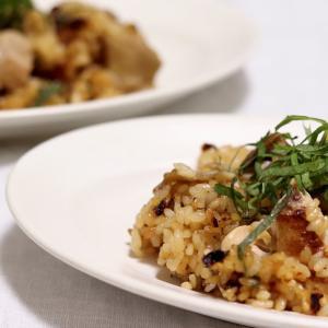 鶏肉ときのこの和風パエリア * レシピ