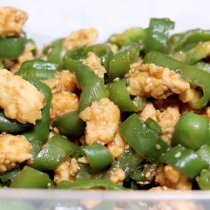 ピーマンとひき肉の味噌炒め * レシピ