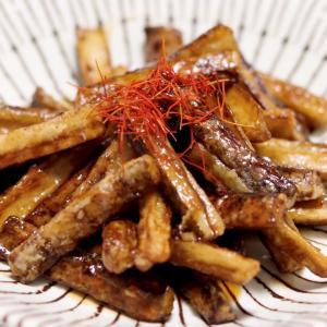 食物繊維豊富な『ごぼうの甘辛揚げ』*今日のレシピ