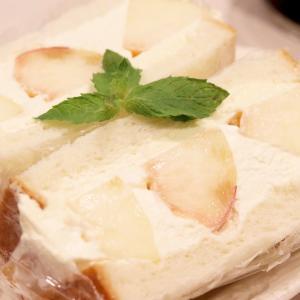 いっしょに作ろ♪『完熟桃のクリームサンド』 #レシピ #フルーツサンド