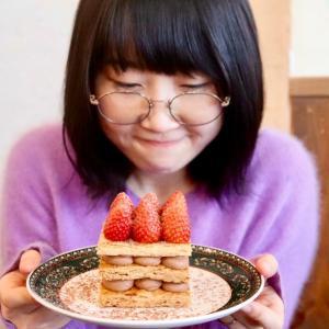 『リスカフェ 』で夢の苺ミルフィーユ食べてきた・・・!