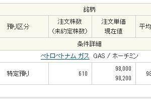 【ベトナム株】「アジアコマーシャル銀行」と「FPT」が永遠に約定しないので「ペトロベトナム ガス(GAS)」を購入