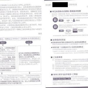 みずほフィナンシャルグループ(8411)から株式併合の案内が来ました【10/1執行】