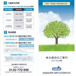 【株主優待】ウエルシア・ホールディングス(3141) WEB申込ページ