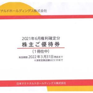 【2021年株主優待】日本マクドナルド(2702)より株主優待が届きました