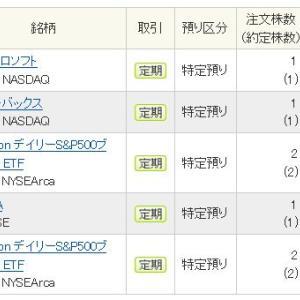 【米国株】2019年8月第4週の定期買い付け分